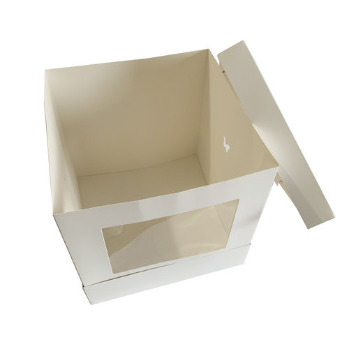 Tall window cake box - 254 x 254 x 254 mm (per 10 pieces)