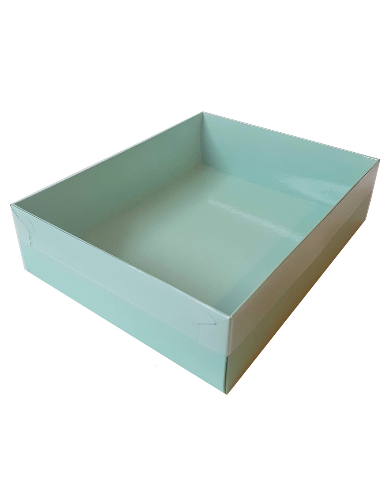 Mint sweets box with clear lid - 25 x 20 x 7 cm (per 50 pieces)