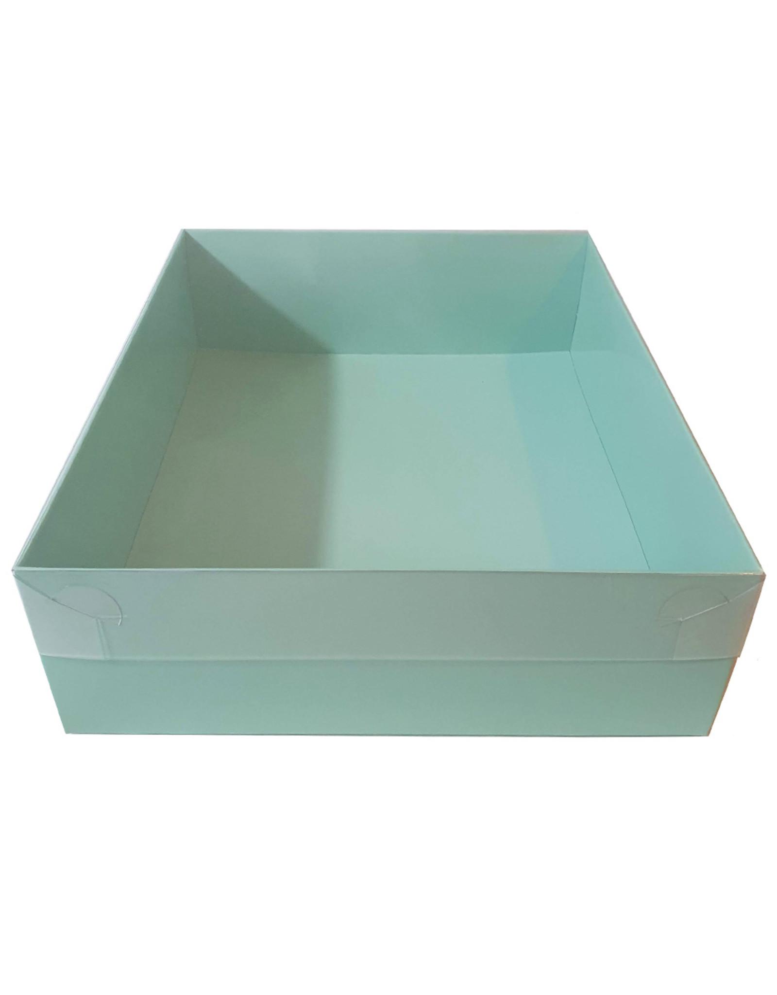 Mint sweetsbox met transparant deksel - 25 x 20 x 7 cm (per 50 stuks)
