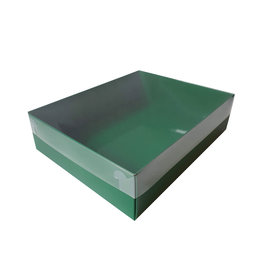 Green sweets box with clear lid (50 pcs.)