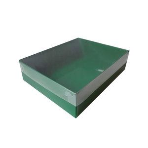 Groene sweetsbox met transparant deksel (50 st.)