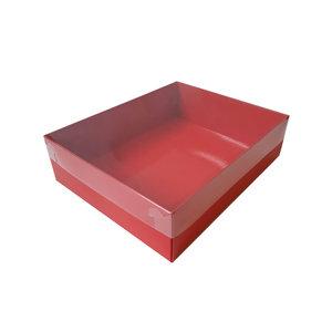 Rode sweetsbox met transparant deksel (50 st.)