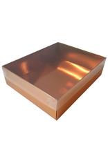 Gouden sweetsbox met transparant deksel - 25 x 20 x 7 cm (per 50 stuks)