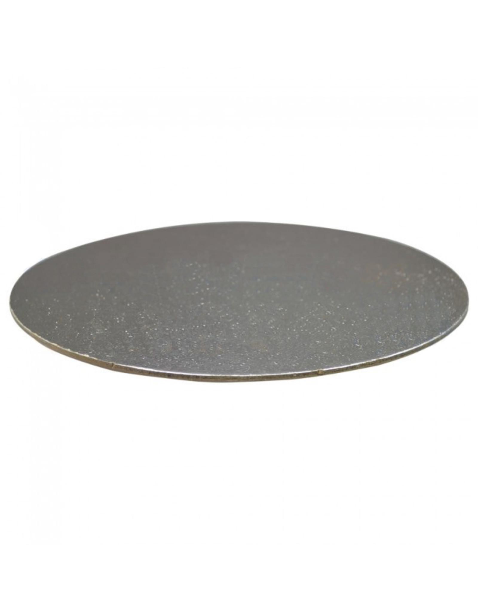 Taartkartonnen Ø203 mm - zilver (per 100 stuks)