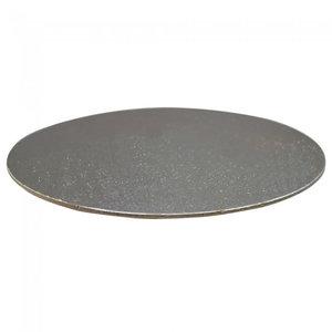 Taartkartonnen Ø203 mm - zilver (100 st.)