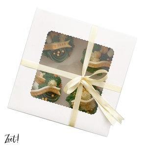 Voordelige doos voor 4 cupcakes (10 st.)
