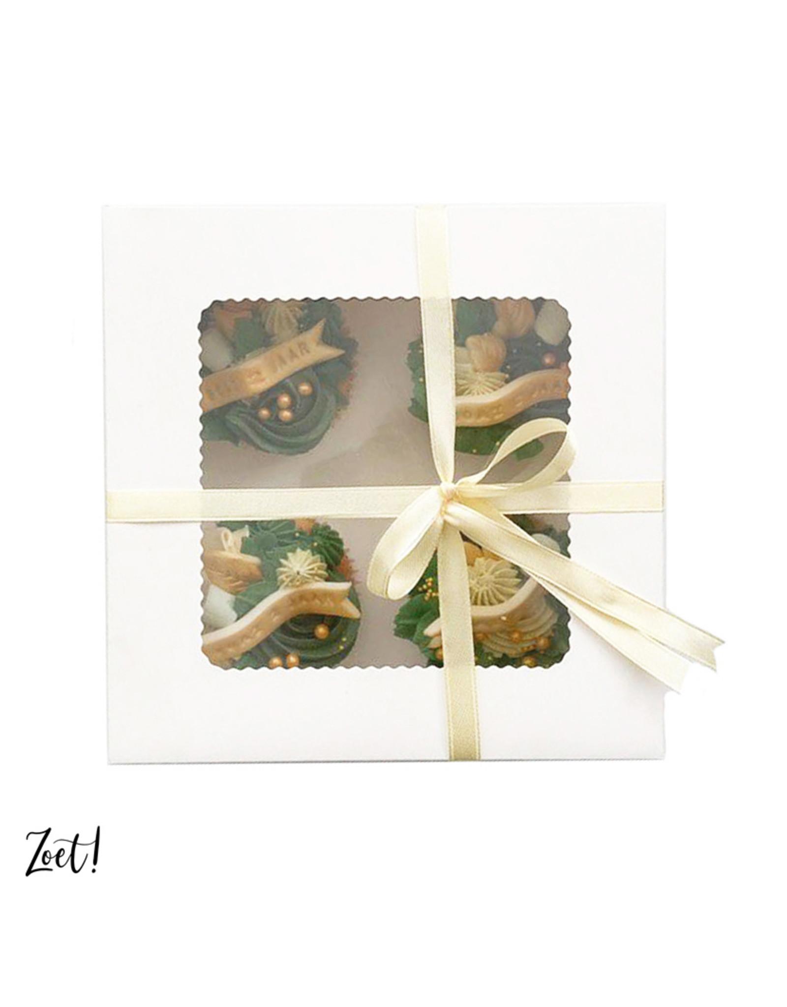 Voordelige doos voor 4 cupcakes (per 10 stuks)