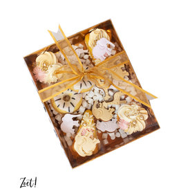 Gold sweets box with clear lid (50 pcs.)