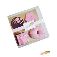 Transparante sweets box - 15x15x3 (100 st.)