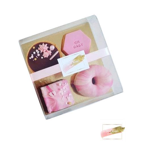 Clear sweets box - 15 x 15 x 3 cm  (per 100 pieces)