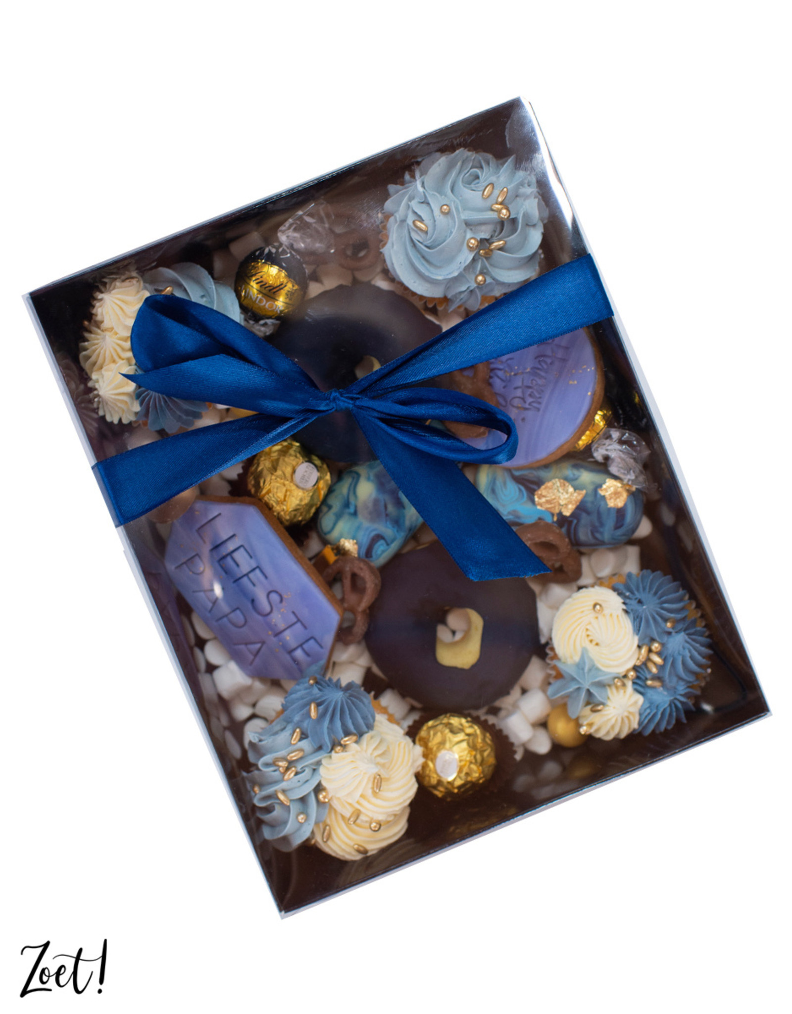 Black sweets box with clear lid - 25 x 20 x 7 cm (per 50 pieces)