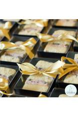 Zwarte mini sweets box - 124x79x30mm (per 100 stuks)