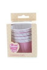 Culpitt Cupcake bakjes roze (per 12 stuks)