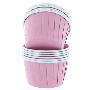 Cupcake bakjes roze (12 stuks)