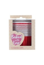 Culpitt Cupcake bakjes rood (per 12 stuks)