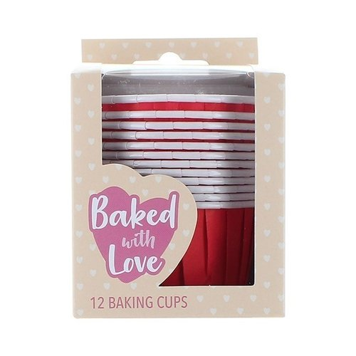 Baking cups red (per 12 pieces)