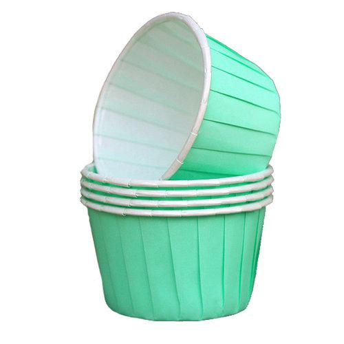 Cupcake bakjes mint (12 stuks)