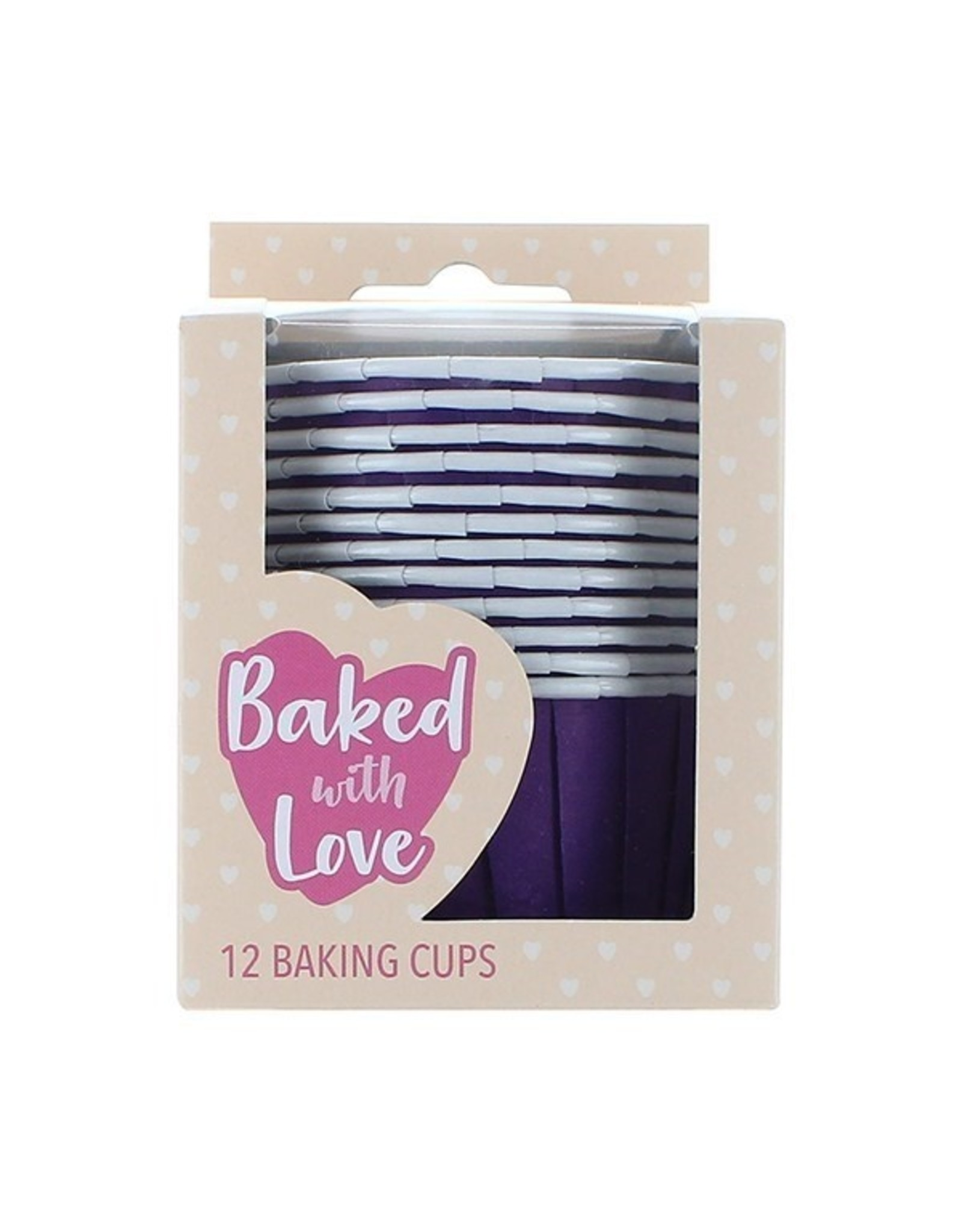 Culpitt Cupcake bakjes paars (per 12 stuks)