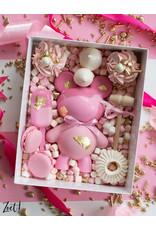 Witte sweetsbox met transparant deksel - 25 x 20 x 7 cm (per 50 stuks)