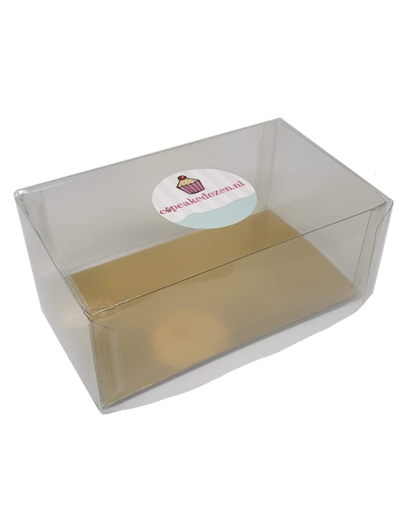 Transparante doos rechthoek hoog - diverse maten