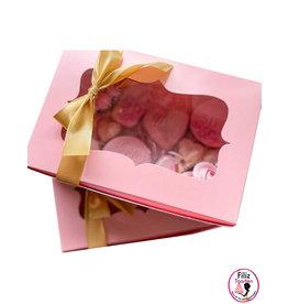 Roze doos voor 6 cupcakes (10 st.)
