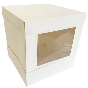 Hoge taartdoos met venster - 25x25x25 (10 st.)