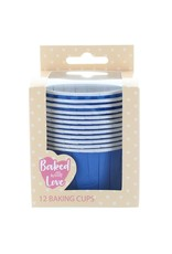 Culpitt Cupcake bakjes blauw (per 12 stuks)