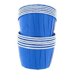Cupcake bakjes blauw (72 stuks)