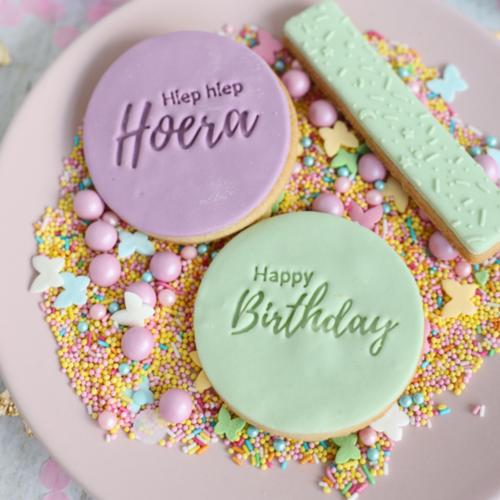 Koekstempel - Happy Birthday