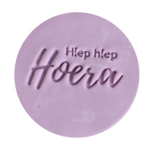 Cookie stamp - Hiep Hiep Hoera
