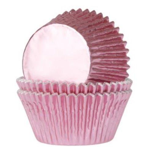 Metallic baking cups - baby pink (500 pcs.)
