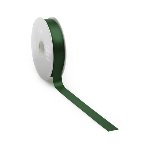 Double face satin ribbon - Green (25 m.)