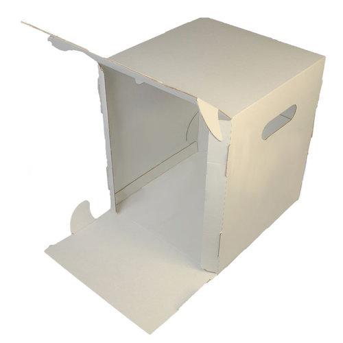Hoge taartdoos golfkarton - 26x26x31 (50 st.)