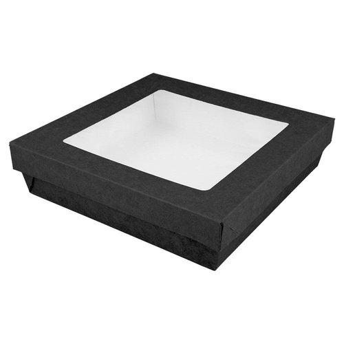 Zwarte sweetsbox - 14 x 14 x 5 cm (per 25 stuks)