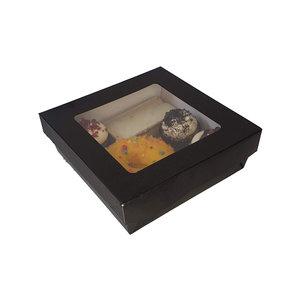 Zwarte sweetsbox - 14x14x5 (25 st.)