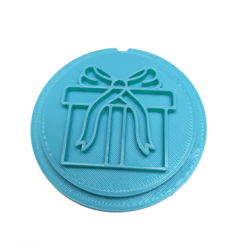 Cookie stamp - Gift with bow