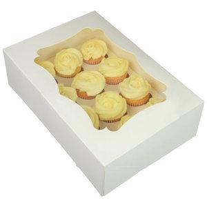 White box for 12 mini cupcakes (25 pcs.)
