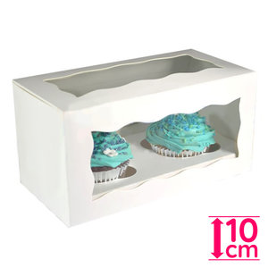 Witte doos voor 2 cupcakes (25 st.)