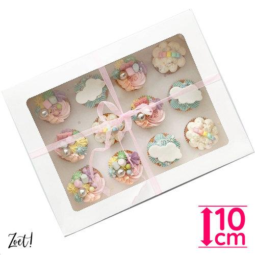 Voordelige doos voor 12 cupcakes (10 st.)