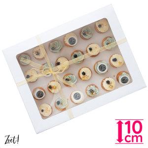 Economy box for 24 mini cupcakes (10 pcs.)