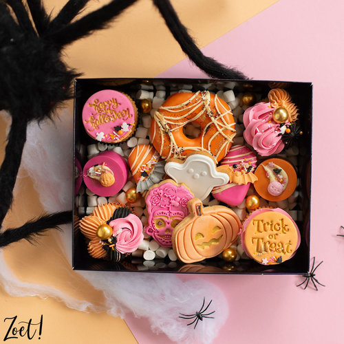 Zwarte sweetsbox met transparant deksel (50 st.)