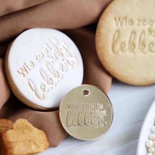 Gold tags - Wie zoet is krijgt lekkers (per 5 pieces)