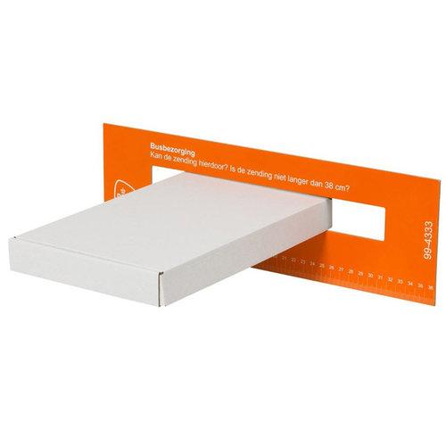 Brievenbusdoos A5+ wit - 255x160x28mm (100 st.)