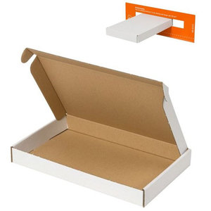Letterbox packaging white - 255x160x28mm (100 pcs.)