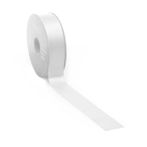 Double face satin ribbon - White (25 m.)