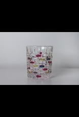 Skloglass Montreal whisky glas met kleurrijke decoratie / 6st