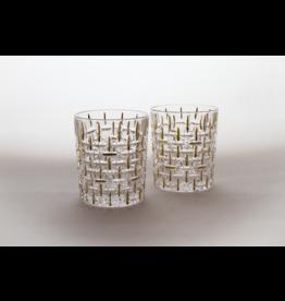 Skloglass Montreal whisky glas met goud decoratie / 6st