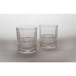 Skloglass Dallas whisky glas met goud decoratie / 6st