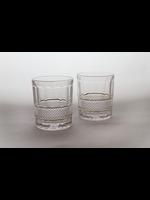 Skloglass Dallas whisky glas met goud decoratie / 6st