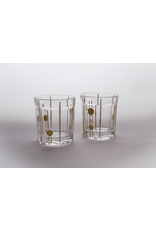 Skloglass Berlin whisky glas met goud decoratie / 6st